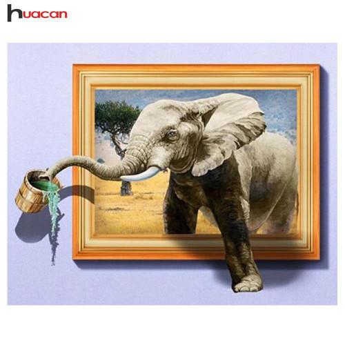5D Diamond Painting Elephant Painting Kit