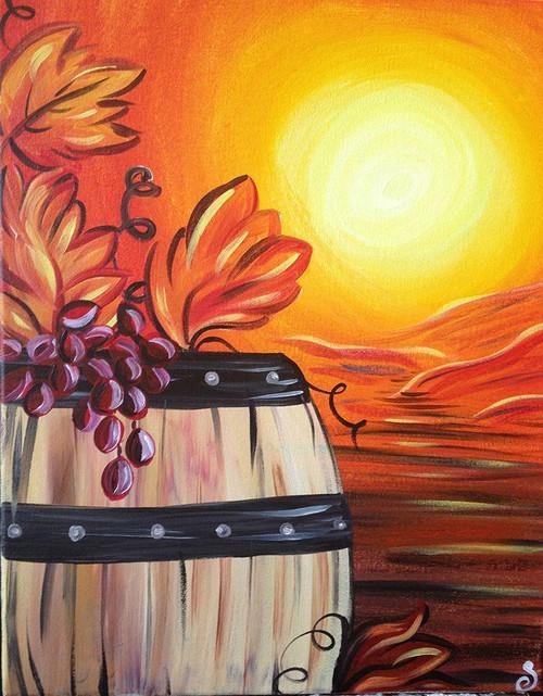 5D Diamond Painting Fall Wine Barrel Kit