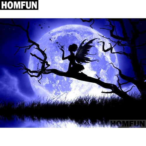 5D Diamond Painting Fairy Silhouette in the Moonlight Kit