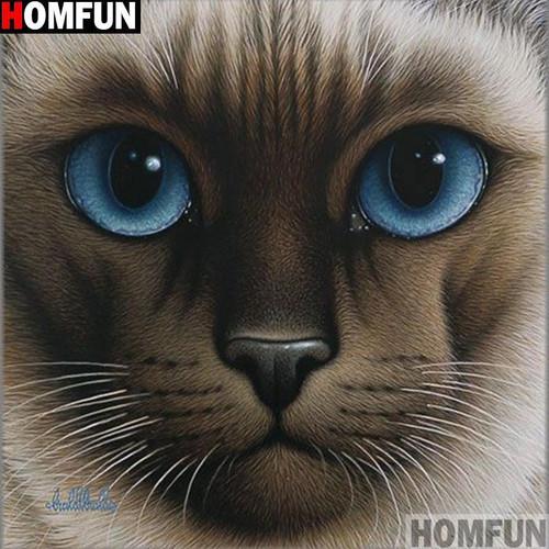 5D Diamond Painting Siamese Cat Close Up Kit