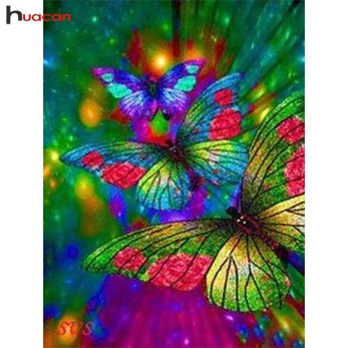 5D Diamond Painting Bright Abstract Butterflies Kit