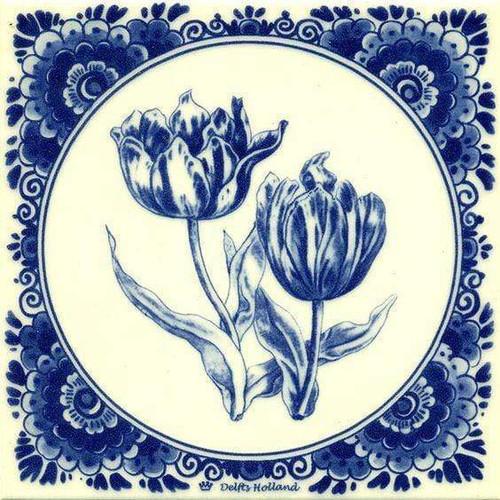 5D Diamond Painting Delft Blue Tulips Kit