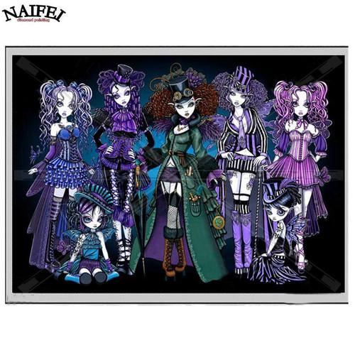 5D Diamond Painting Monster Punk Girls Kit
