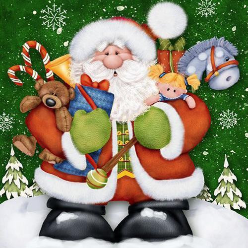 5D Diamond Painting Santa with Gifts Kit