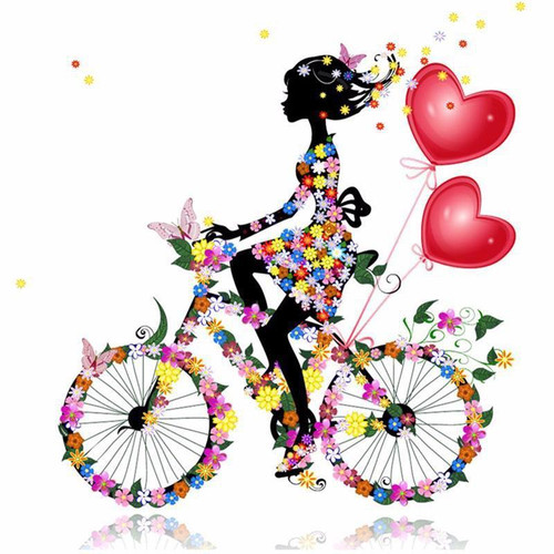 5D Diamond Painting Flower Bicycle Kit