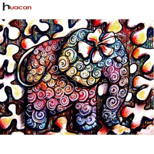 5D Diamond Painting Abstract Swirls Elephant Kit