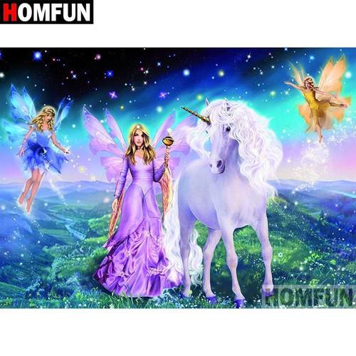 5D Diamond Painting Fairies and Unicorns Kit