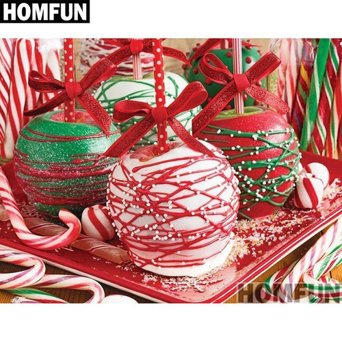 5D Diamond Painting Christmas Candied Apples Kit