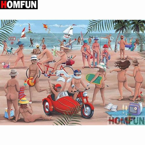 5D Diamond Painting Nude Beach Kit
