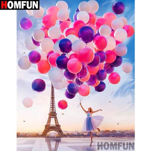 5D Diamond Painting Eiffel Tower Balloons Kit