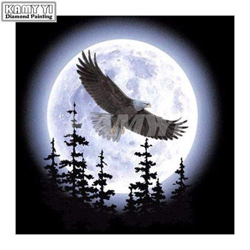 5D Diamond Painting Eagle Moon Kit
