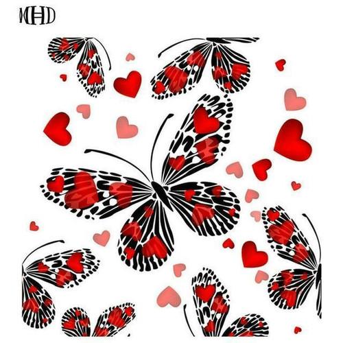 5D Diamond Painting Pattern Heart Butterfly Kit
