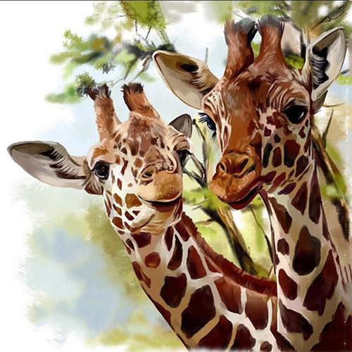 5D Diamond Painting Two Giraffes Kit