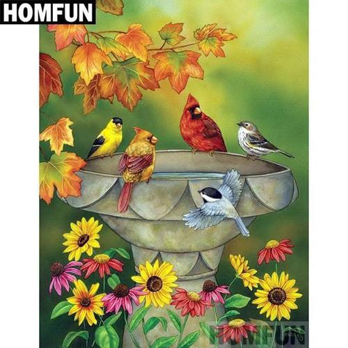 5D Diamond Painting Fountain Birds Kit