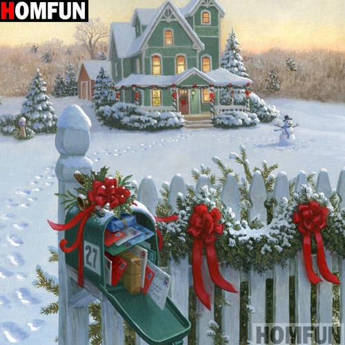 5D Diamond Painting Christmas Delivery Kit