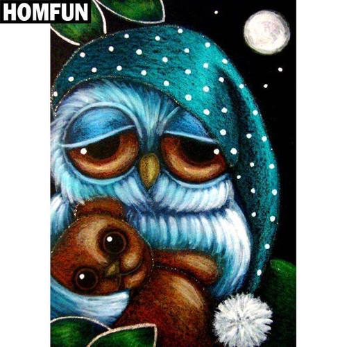 5D Diamond Painting Owl Teddy Bear Kit
