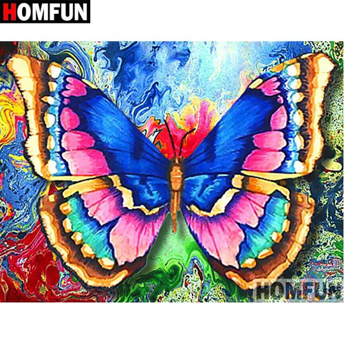 5D Diamond Painting Colorful Painted Butterfly Kit