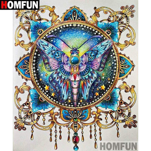 5D Diamond Painting Ornate Abstract Butterfly Kit