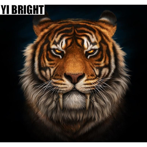 5D Diamond Painting Saber Tooth Tiger Kit