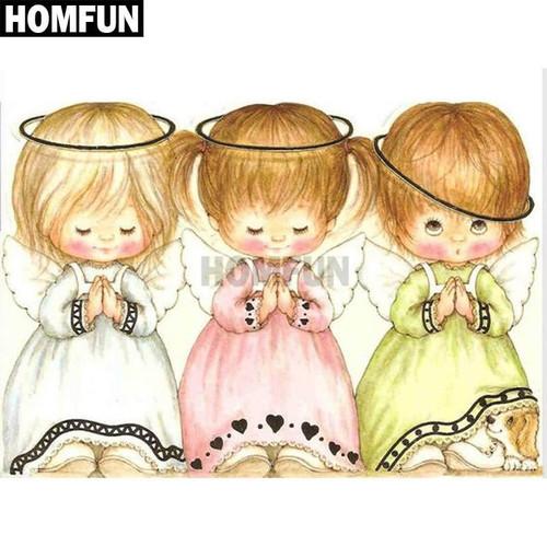 5D Diamond Painting Three Little Angels Kit