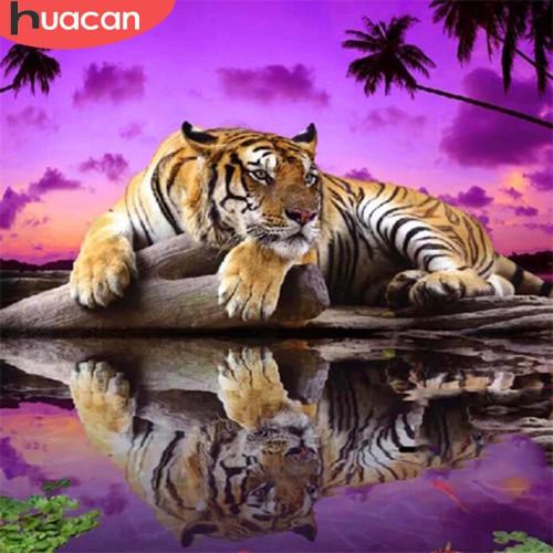 5D Diamond Painting Purple Sky Tiger Kit