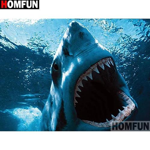 5D Diamond Painting Shark Teeth Kit
