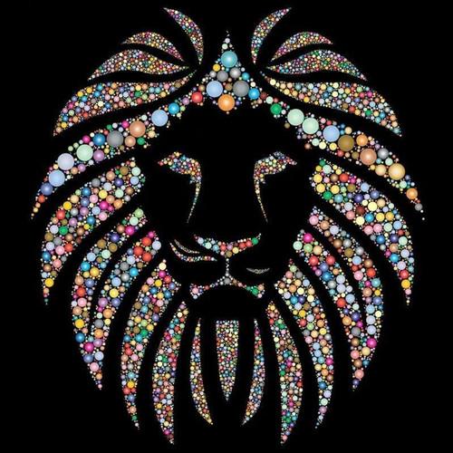 5D Diamond Painting Jeweled Lion's Mane Kit
