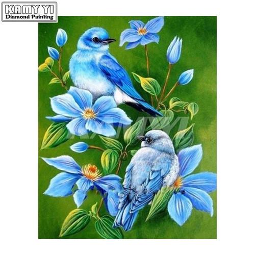 5D Diamond Painting Two Little Blue Birds Kit