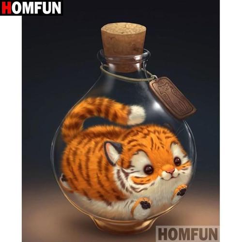 5D Diamond Painting Kitty in a Bottle Kit