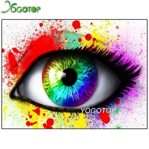 5D Diamond Painting Abstract Rainbow Eye Kit