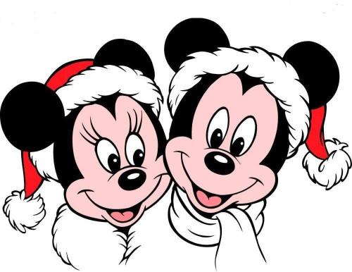 5D Diamond Painting Mickey and Minnie Santa Hats Kit