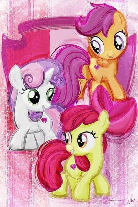 5D Diamond Painting My Little Pony Three Painted Ponies Kit