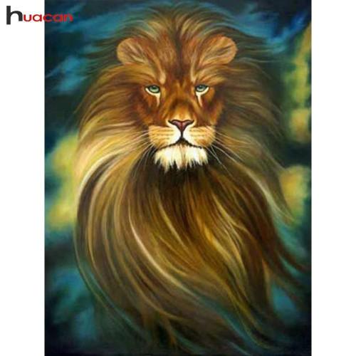 5D Diamond Painting Flowing Mane Lion Kit