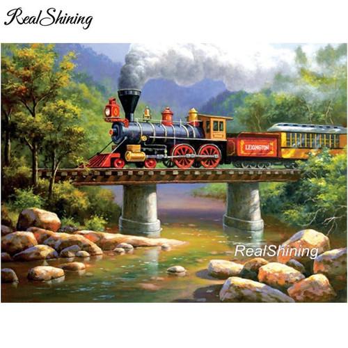 5D Diamond Painting Train Bridge Kit