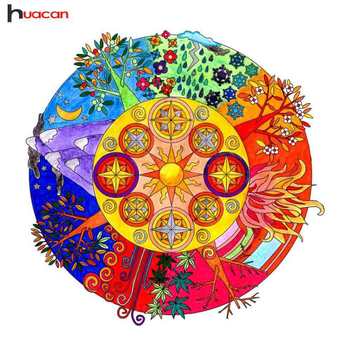 5D Diamond Painting Tree Mandala Kit