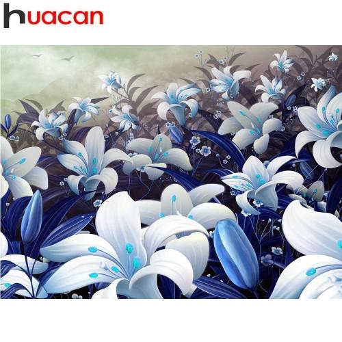 5D Diamond Painting Field of Blue Lilies Kit