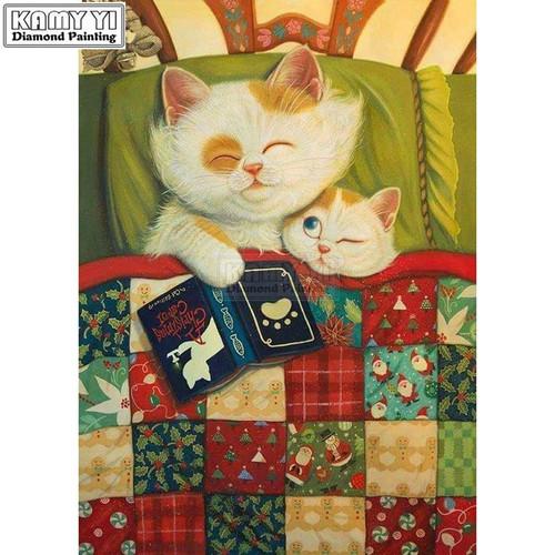 5D Diamond Painting Kitten Bedtime Story Kit