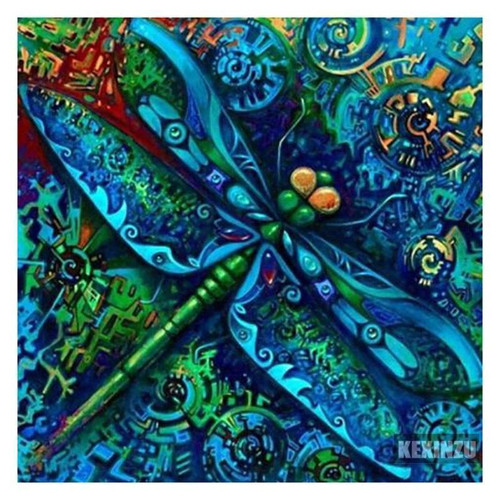 5D Diamond Painting Abstract Dragonfly Kit