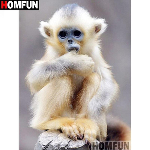 5D Diamond Painting White Monkey Kit
