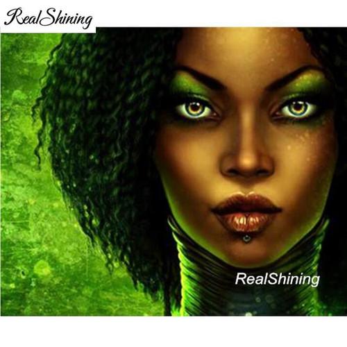 5D Diamond Painting Green Eye Shadow Beauty Kit