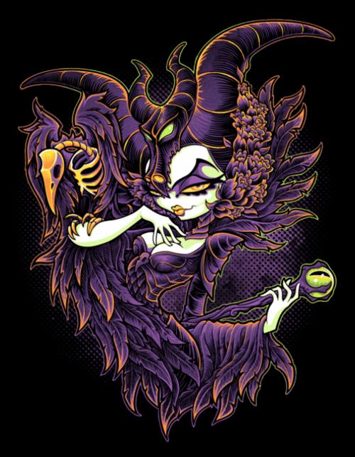 5D Diamond Painting Abstract Cartoon Maleficent Kit