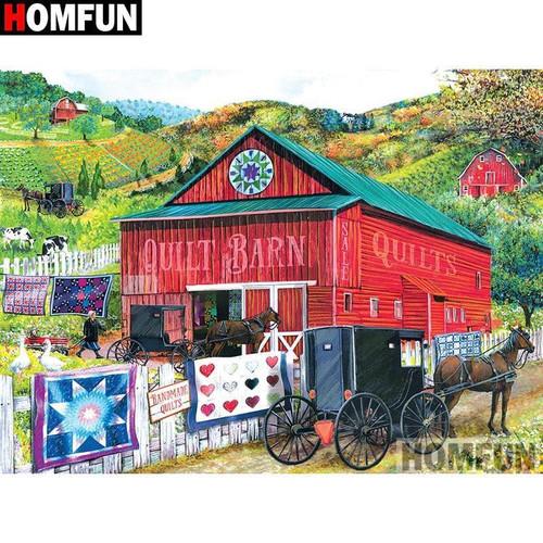 5D Diamond Painting Quilt Barn Kit
