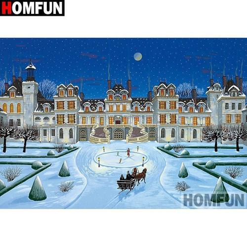 5D Diamond Painting Snow at the Mansion Kit