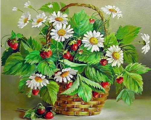 5D Diamond Painting Basket of Wild Strawberries Kit