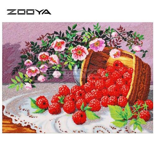 5D Diamond Painting Basket of Red Raspberries Kit