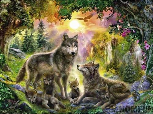 5D Diamond Painting Wolf Valley Kit