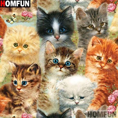 5D Diamond Painting Kitten Collage Kit