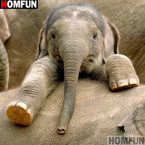 5D Diamond Painting Baby Elephant Kit