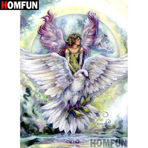 5D Diamond Painting Dove and Angel Kit