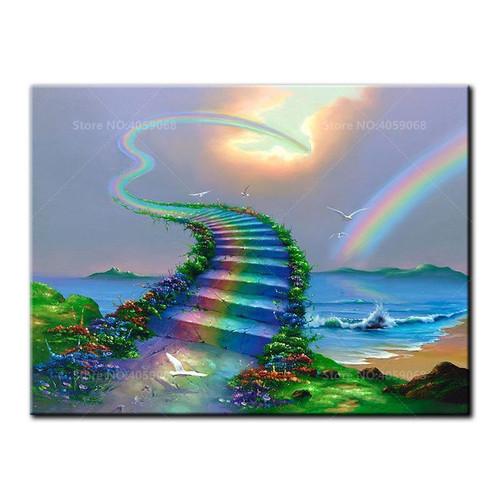 5D Diamond Painting Rainbow Stairs to Heaven Kit
